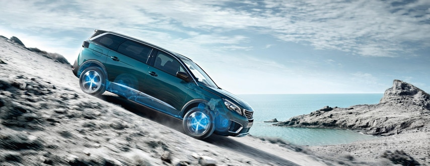 New SUV PEUGEOT 5008: Hill Assist Descent Control